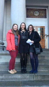 Sarah Grace and Izzy at statehouse