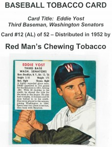 Baseball Chewing Tobacco Card